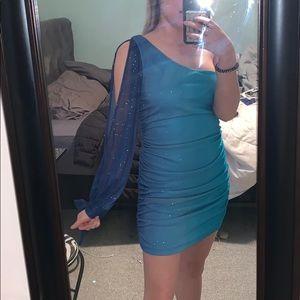 Blue ombré homecoming dress.